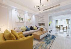 錦鵬國際現代簡約風格120平米三居室裝修案例