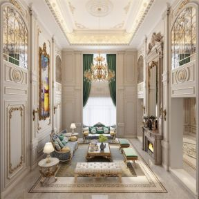 法式客廳吊頂裝修效果圖 法式風格客廳沙發