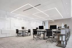 南寧1200平辦公室吊頂裝修設計圖賞析