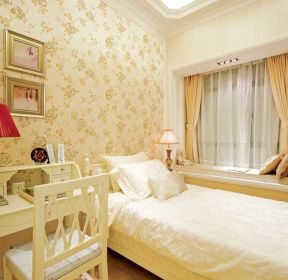 厦门小户型房子卧室背景墙纸装修效果图-每日推荐