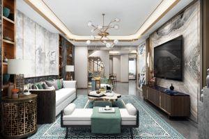 香山美墅别墅425平新中式风格装修案例