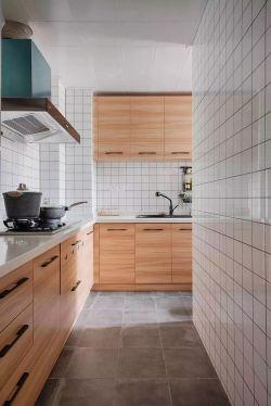 簡約風格新房廚房背景墻磚裝修設計圖