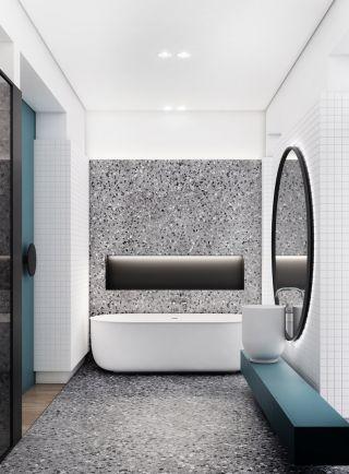 現代簡約風格家庭衛生間创意装修效果圖