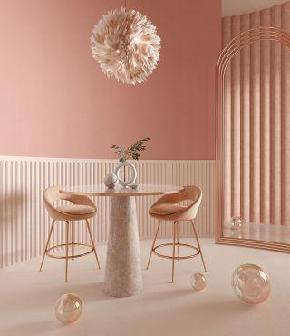 温馨小戶型家庭餐廳吊灯装修设计效果圖