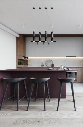 廚房吊柜設計圖片 廚房吧臺椅子