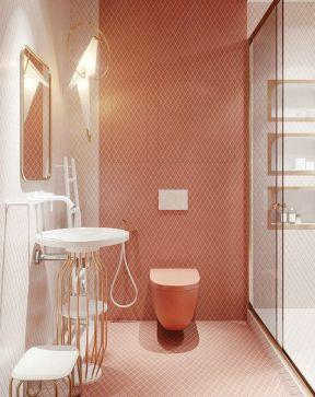 卫生间背景墙图片 温馨卫生间装修效果图