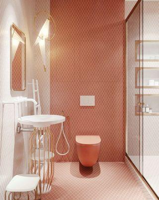 2019温馨小戶型衛生間背景牆装修设计图