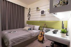 青島70平小戶型臥室裝潢設計效果圖