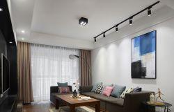 青島小戶型家庭客廳射燈裝修效果圖