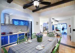 青島地中海風格家庭餐廳裝修實圖