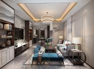 【业之峰装饰】北京格林云墅新中式风格100平米三居室装修案例