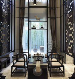 別墅270平新中式風格茶室設計圖