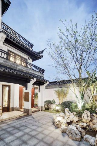 武汉新中式两层別墅庭院装修设计图片