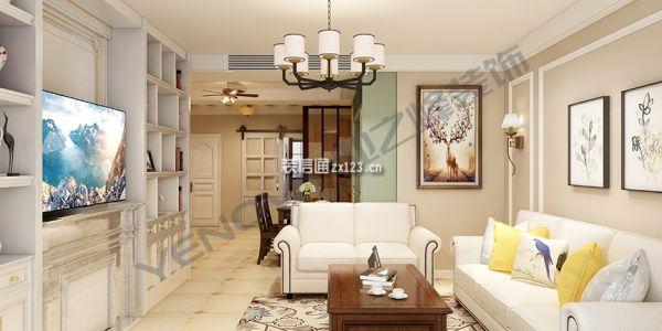 白領家園美式風格115平米设计方案
