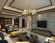 【渭南城市人家裝飾】恒天首府二期138平米三居室新中式風格