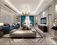 【風雲國際設計】杭州悅麒美寓歐式風格300平米裝修效果圖案例