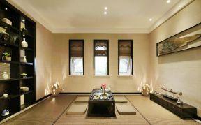 中式茶室效果圖 中式茶室設計 別墅茶室裝修設計效果圖