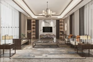 江阴院子现代风格677平米别墅装修案例
