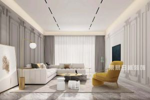 新世纪壹号轻奢风格120平米三居室装修案例