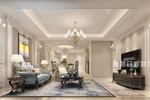 龙湖紫云台欧式风格420平米别墅装修案例