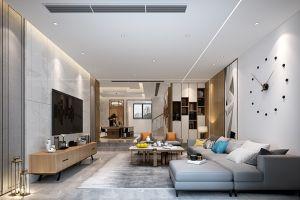 融创枫丹御园现代风格400平米别墅装修案例