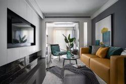 青島78平小戶型樣板房客廳裝修設計