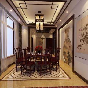 中式風格餐廳吊頂效果圖 中式風格餐廳案例