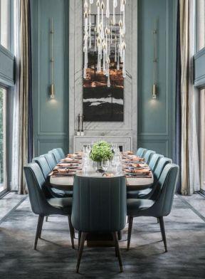 別墅餐廳裝修圖 別墅餐廳背景墻  別墅餐廳裝修效果圖片