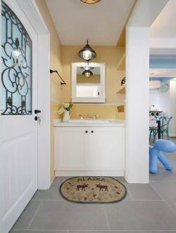 成都三房兩廳室內洗手臺鏡前燈設計圖