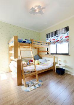 成都美式風格三房兩廳兒童房壁紙圖片