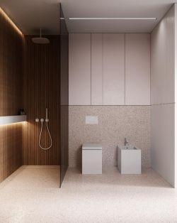簡約衛生間玻璃隔斷裝修設計圖