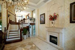 無錫高檔別墅室內樓梯裝修圖片