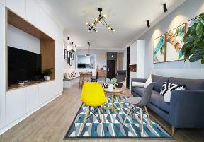 組合電視柜效果圖 組合電視柜墻 北歐客廳裝修