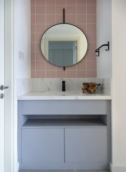 90平方簡約衛生間洗手臺裝修設計效果圖