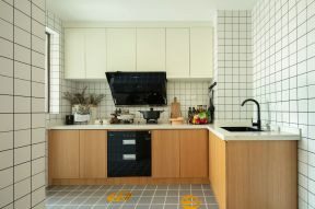 廚房墻磚裝修效果圖大全 廚房墻磚效果圖 廚房實木櫥柜圖片