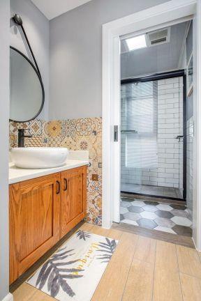卫生间洗手盆装修效果图 卫生间洗手台 卫生间洗漱台图片
