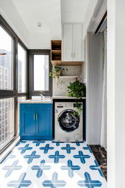 歐式風格陽臺洗衣機柜裝潢設計效果圖