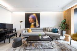 無錫128平北歐客廳沙發裝修布置圖片
