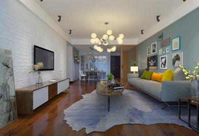 渭南曦和·中央公园119平米三居室现代简约风格ballbet贝博网站效果图