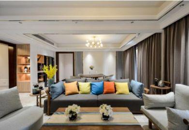 【渭南ballbet贝博网站公司】现代四居室160平米ballbet贝博网站效果图