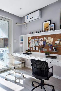110平方簡約風格書房書桌裝修設計效果圖