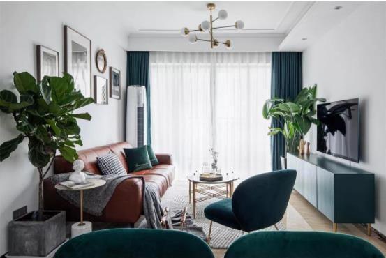 【渭南美颂雅庭装饰】北欧风三居室109平米装修效果图