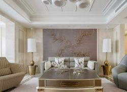 150平米新房客廳沙發背景墻裝修效果圖片