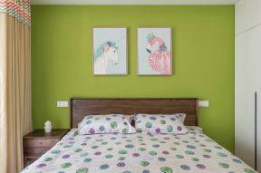 臥室背景墻裝修 綠色墻面裝飾圖片 綠色墻面裝修效果圖片