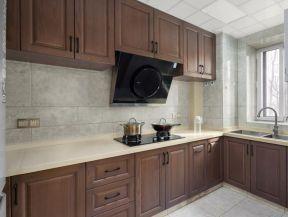 現代廚房裝修 實木櫥柜圖片大全  現代廚房效果圖