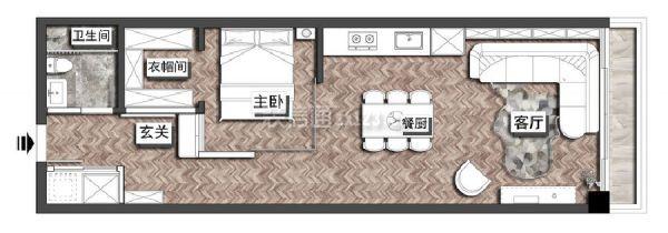 一居室平面布置图