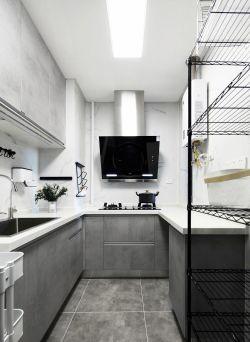 簡約風格U型廚房裝修設計實景圖