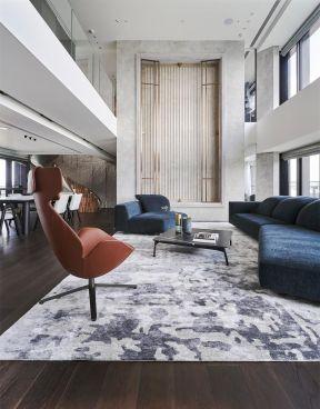 客廳布藝沙發裝修效果圖 現代復式客廳裝修效果圖