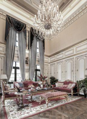 法式別墅客廳裝修效果圖 法式別墅客廳 別墅客廳裝修效果圖大全