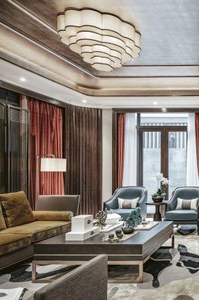 新中式客廳裝修效果圖大全 小別墅客廳設計